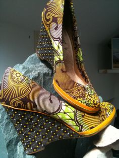 African print shoes.