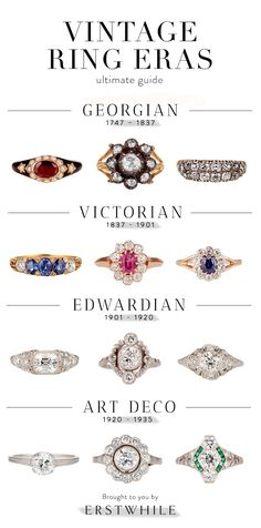 Ultimate Guide to Vintage Ring Eras                                                                                                                                                                                 More