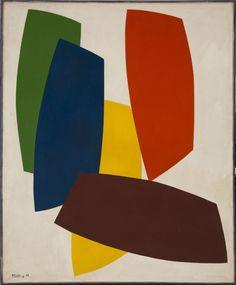 René Roche (1932-1992)  Modules dans l'espace, 1977  Acrylique sur toile  Signée et datée '77' en bas à gauche  220 x 180 cm.