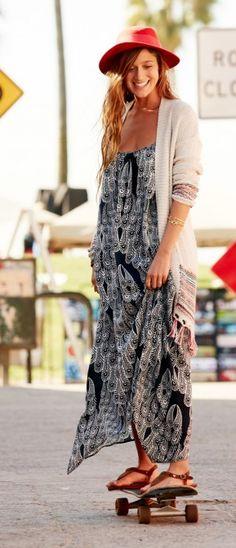 Roxy Beach Dresses // Free Swell Maxi Dress