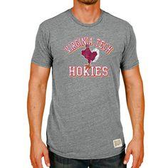 Virginia Tech Hokies Original Retro Brand Vintage Tri-Blend T-Shirt - Heather Gray - $23.99