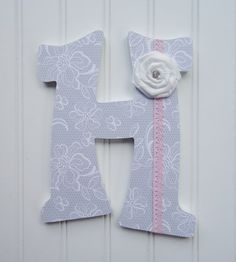 Shabby Chic Wall Letters Nursery  Wall Decor Wooden by fabbdesigns, $15.00