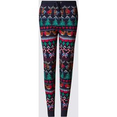 M&S Collection Christmas Fair Isle Leggings (€34) ❤ liked on Polyvore featuring pants, leggings, patterned pants, christmas leggings, fair isle leggings, fairisle leggings and pocket pants