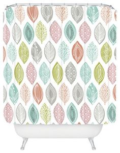 Wendy Kendall Leaf Pod Shower Curtain - contemporary - Shower Curtains - DENY Designs