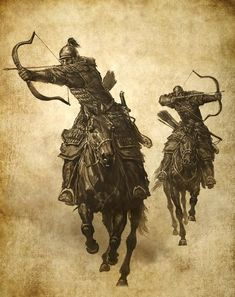 History of Archery - A Not So Brief History of an Ancient Practice Fantasy Warrior, Fantasy Art, Horse Tattoo Design, Mounted Archery, The Legend Of Heroes, Asian History, British History, Traditional Archery, Medieval Fantasy
