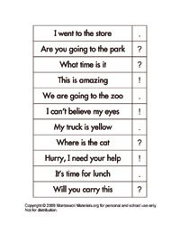 Tons of free Montessori printables for language activities or word work