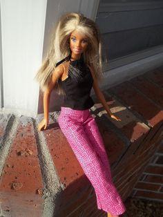 Barbie Clothes Outfit Black Halter Top by BarbieBoutiqueBasics, $10.00