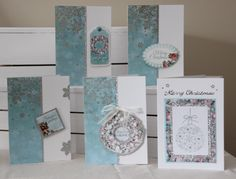 Handmade 3 dimensional Christmas and Seasonal Holiday Cards- 5 pack assortment range of go by 4Dignity on Etsy