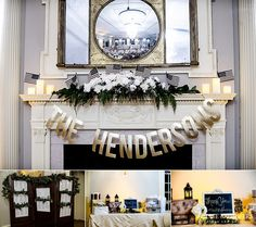Love this decorative way to show off personality of a bride and groom. -- kellie saunders photography