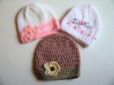LOT bébé 3 bonnet naissance à 3 6 mois, coffret naissance fille Coffret  Naissance 17aeb260fcc