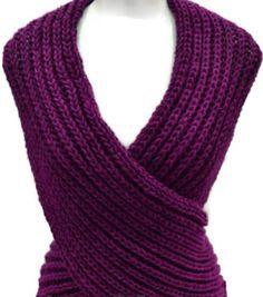 Shawl Cross Vest Capelet Neck Warmer Stole Multifuncional Knitting Pattern Transforms easily Level: Easy Patron en Español, lo encuentras