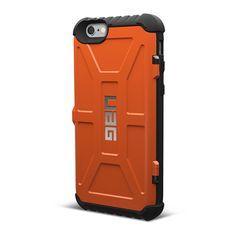 Urban Armor Gear iPhone 6/6S Plus (5.5 Screen) Trooper Card Case-Rust   Mobile Madhouse
