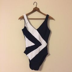 Vintage Mainstream Black and White One Piece Bathing Suit from damsel in distressed