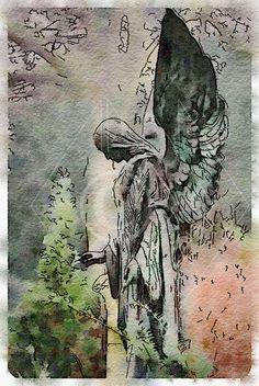 Angel - Printable Art, Instant Downloadable Images, Fine Art. by edeblas on Etsy
