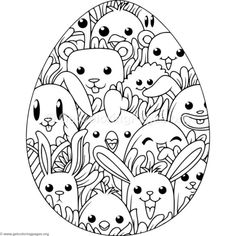 Happy Animals Easter Egg Coloring Pages – GetColoringPages.org