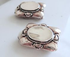 Silver Plated  Earrings Clip On Vintage 1980s by resurrections, $12.95