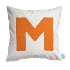 """Personalized Initial Pillow - Letter """"M"""""""