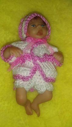 "Hand crochet dolls clothes fits 5"" ooak sculpt baby or Ashton Drake heavenly | Dolls & Bears, Dolls, Clothing & Accessories, Artist & Handmade Dolls | eBay!"
