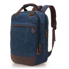 Cheap canvas backpack, Buy Quality backpack for men directly from China backpack for Suppliers: Tara Sergy canvas backpack for men Men backpack Casual canvas bag man bag computer backpack student leisure shoulder bags Laptop Rucksack, Computer Backpack, Rucksack Backpack, Leather Backpack, Designer Backpacks, Casual Bags, Men Casual, Style Vintage, Bleu Marine