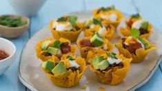 Make and share this Cheesy Shell Taco Bites recipe from Genius Kitchen. Healthy Appetizers, Appetizer Recipes, Snack Recipes, Cooking Recipes, Snacks, Appetizer Ideas, Low Carb Taco Shells, Taco Bites, Cinco De Mayo