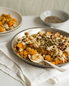 Savory Crumble Pie with Pumpkin, Apple and Thyme #SweetPaul #Thanksgiving