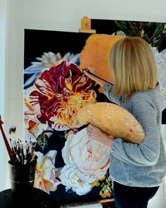 Photoshoot, Floral, Artist, Painting, Photo Shoot, Flowers, Artists, Painting Art, Paintings