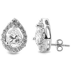 CZ Clear Stud Earrings