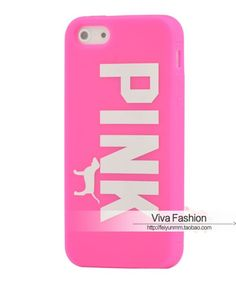 Victoria's Secret PINK Dog Rubber Case Cover For iPhone6,iPhone6 Plus,iPhone5,5S