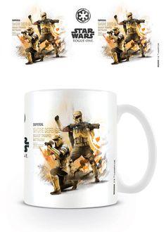 Taza Shore Trooper, Rogue One: A Star Wars Story  Taza cerámica con la imagen de los Shore Trooper, basada en el film Rogue One: A Star Wars Story.