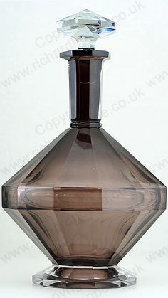 VINTAGE c.1930s VAL ST. LAMBERT SMOKY PLUM DECO CRYSTAL DECANTER. Price: £265.00. For more information about this item click here: http://www.richardhoppe.co.uk/item.php?id=2758 or email us here: info@richardhoppe.co.uk