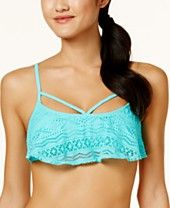 d6f6d99bdc Hula Honey Juniors' Little Wild One Strappy Crochet Bikini Top, Created for  Macy's Kids