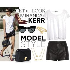 Model Style: Miranda Kerr by blingjewelry on Polyvore featuring MANGO, Pierre Balmain, Gianvito Rossi, 3.1 Phillip Lim, Bling Jewelry and STELLA McCARTNEY