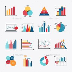 Buy Business Chart Icons Set Flat by macrovector on GraphicRiver. Business data market elements dot bar pie charts diagrams and graphs flat icons set isolated vector illustration. Graph Design, Chart Design, Web Design, Bar Graphs, Charts And Graphs, Pie Charts, Illustrator, Information Design, Gifts For Photographers