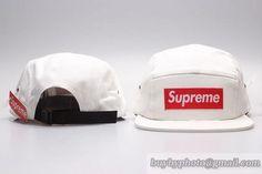 5 Panel Supreme Caps Snapback Caps Hats White