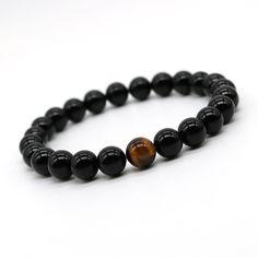 Tiger Eye Stone Mens Beads Bracelet Double Chain Link Thin Hematite Healing Charm Stracking Trendy Pulseiras Strand Bracelets