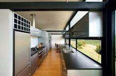 Stunning New Zealand Glass House With Minimalist Interiors | DigsDigs
