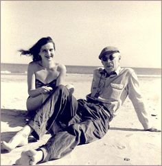 Henry Miller and Eve McClure  Photo by Denise Bellon, 1948
