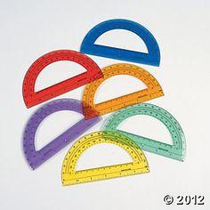 Colored Protractors