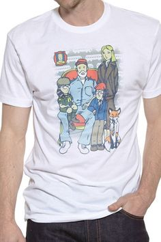 Wes Anderson Family Portrait Tee from DSF Clothing Company