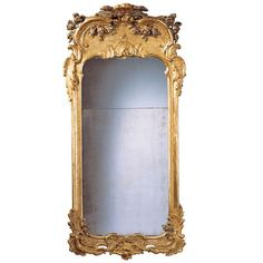 Superb 18th c. Swedish Rococo Silvered and Giltwood Mirror   From a unique collection of antique and modern wall mirrors at https://www.1stdibs.com/furniture/mirrors/wall-mirrors/