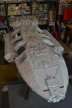 The original Battlestar Galactica model. Battlestar Galactica Model, Star Trek, Kampfstern Galactica, Pintura Exterior, Sci Fi Spaceships, Sci Fi Tv Shows, Sci Fi Models, Sci Fi Ships, To Infinity And Beyond