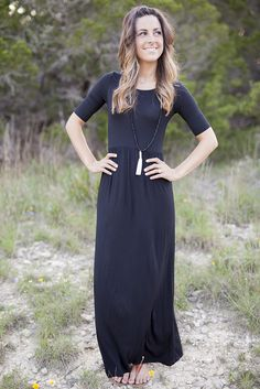 As comfortable as it is beautiful, our Emma Rose maxi is one of our favorites. Featuring a fitted bodice with sleeves, this flowy maxi screams flattering. This dress is so versatile, it can be worn to