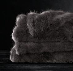 Ultra Faux Fur Throw | Restoration Hardware