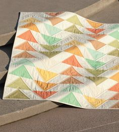 Modern triangle quilt (from Skip the Borders: Easy Patterns for Modern Quilts)