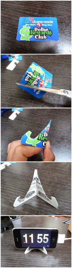 How To Make A Credit Card IPhone Stand Pictures, Photos, and Images for Facebook, Tumblr, Pinterest, and Twitter
