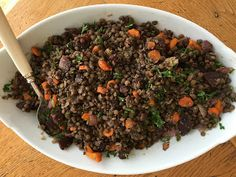 Kitchen Cactus: French Green Lentils with Roasted Beets and Carrot. Roasted Beets And Carrots, French Green Lentils, Lentil Salad, Side Dishes, Salads, Beef, Cactus, Food, Kitchen