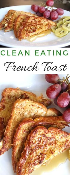 Clean Eating French Toast {A 15 Minute Recipe!} Clean Eating French Toast {A 15 Minute Recipe!} How to Make Clean Eating French Toast<br> A clean eating version of classic french toast, made with real ingredients for a healthier, flavorful breakfast Clean Eating Meal Plan, Clean Eating Breakfast, Clean Eating Snacks, Healthy Eating, Eating Habits, Clean Eating Dinner Recipes, Clean Eating Brownies, Clean Eating Pancakes, Clean Eating Vegetarian