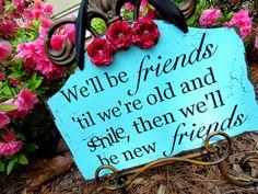 So sweet!!! Best Friends Sign. $32.00, via Etsy.