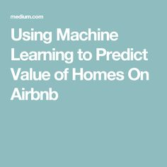 Data products have always been an instrumental part of Airbnb's service. However, we have long recognized that it's costly to make data products. For example, personalized search ranking enables… Ai Lab, Machine Learning Applications, Deep Learning, Home Values, Programming, Computer Hacking, Labs, Reading, Python