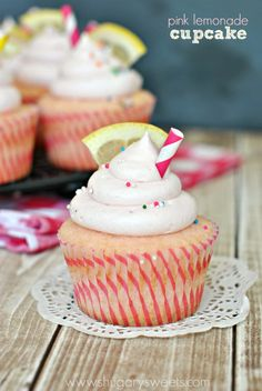 Summer has come to an end, but we can still enjoy these FUN Pink Lemonade Cupcakes! The soft,...